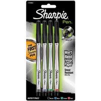 Sanford Brands Sharpie Pens Fine Point 4/Pkg-Black/Blue/Red/Green