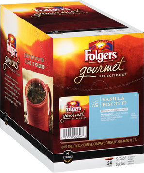 Folgers Gourmet Selections® Vanilla Biscotti Coffee 24 K-Cup® Packs