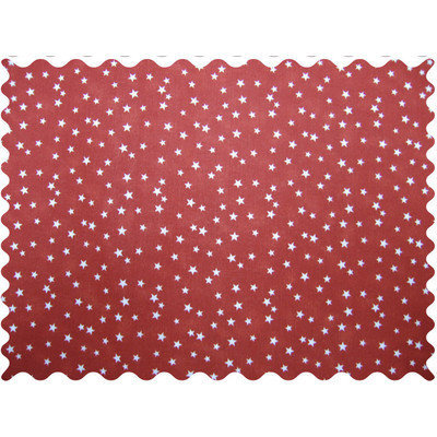 Stwd Cloudy Stars Fabric by the Yard Color: Rust