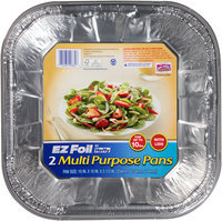 Hefty® EZ Foil® 10 x 10 x 3-1/2 in. Multi Purpose Pans with Lids 2 ct Pack