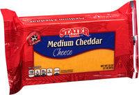 Stater Bros.® Medium Cheddar Cheese 32 oz. Brick