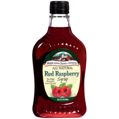 Maple Grove Farms Red Raspberry Syrup 8.5 Oz Glass Bottle