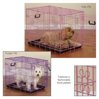 Petedge Dealer Services ProSelect Deco Dog Crate XS Purple