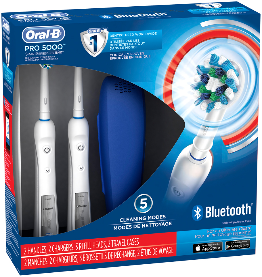 PRO Oral-B PRO 5000 SmartSeries with Bluetooth Connectivity Electric Rechargeable Power Toothbrush Powered by Braun