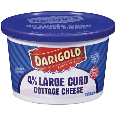 Darigold 4% Large Curd Cottage Cheese 16 Oz Plastic Tub