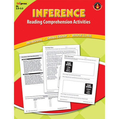 EDUPRESS EP2360 INFERENCE COMPREHENSION BOOK RED LEVEL