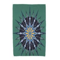 Breakwater Bay Sea Wheel Geometric Print Beach Towel Color: Green