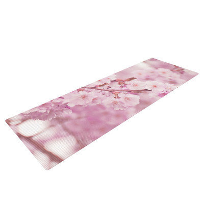 Kess Inhouse Endless Cherry by Monika Strigel Floral Yoga Mat