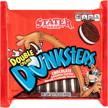 Stater Bros.® Dunksters® Double Creme Chocolate Sandwich Cookies 15.35 oz. Tray