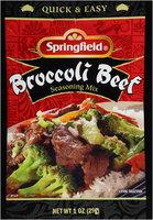 Springfield® Broccoli Beef Seasoning Mix 1 oz. Packet