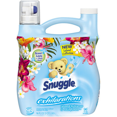 Snuggle® Exhilarations® Island Hibiscus & Rainflower™ 96 Loads Concentrated Fabric Softener 96 fl. oz. Jug
