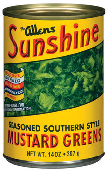 The Allens Sunshine Seasoned Southern Style  Mustard Greens 14 Oz Can