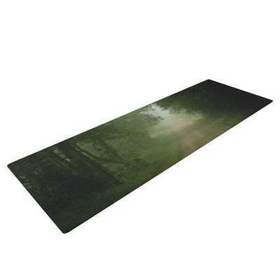 Kess Inhouse Foggy Road by Angie Turner Forest Yoga Mat