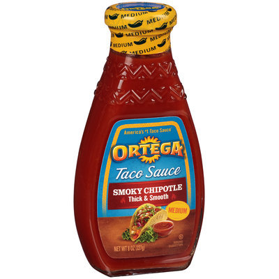 Ortega® Smoky Chipotle Medium Taco Sauce 8 oz. Bottle