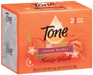Tone Mango Splash Cocoa Butter 4.25 Oz Soap 2 Ct Pack