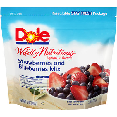 Dole® Wildly Nutritious® Signature Blends Strawberries and Blueberries Mixed Fruit 12 oz. Bag