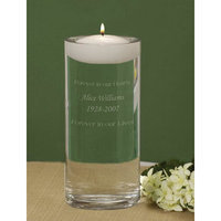 Cathys Concepts Personalized Floating Wedding Memorial Candle