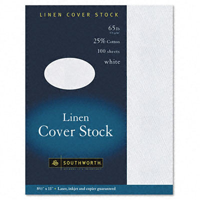 Southworth Company 25pct Cotton Linen Business Coverstock, 100/Box