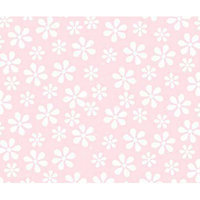 Stwd Pastel Floral Woven Mini Fitted Sheet Color: Pink
