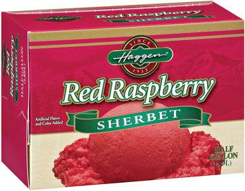 Haggen Red Raspberry Sherbet .5 Gal Carton