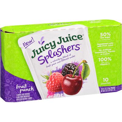 Juicy Juice® Splashers™ Fruit Punch Juice Beverage 10-6 fl. oz. Pouches