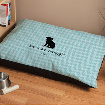 Checkerboard Personalized Houndstooth Dog Bed