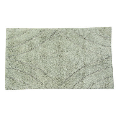Textile Decor Castle 100% Cotton Diamond Spray Latex Back Bath Rug, 24 H X 17 W, Light Sage