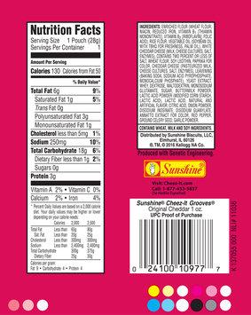Cheez-It Grooves® Original Cheddar Crispy Cracker Chips 1 oz. Pack
