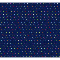 Stwd 3 Piece Primary Pindots Woven Crib Sheet Bedding Set Color: Navy