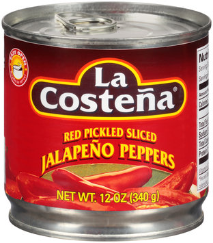 La Costena® Red Pickled Sliced Jalapeno Peppers 12 oz. Can