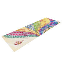Kess Inhouse The Painted Quilt by Catherine Holcombe Yoga Mat