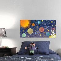 Mona Melisa Designs Space Wall Mural Hair Color: Brown, Eye Color: Brown, Skin Color: Dark