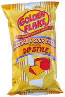 Golden Flake® Cheddar & Sour Cream Flavored Dip Style Potato Chips 5 oz. Bag