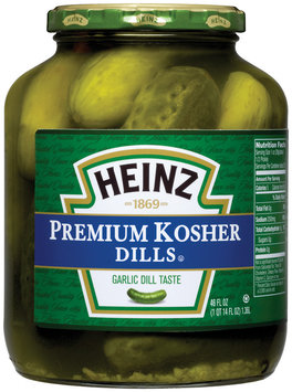 Heinz Premium Kosher Dills  Pickles 46 Oz Jar