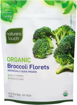 Nature's Touch™ Organic Broccoli Florets 10 oz. Stand-Up Bag
