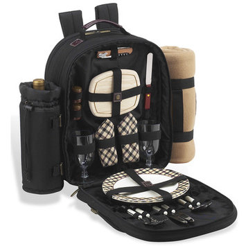 Picnic at Ascot London Backpack For Two with Blanket