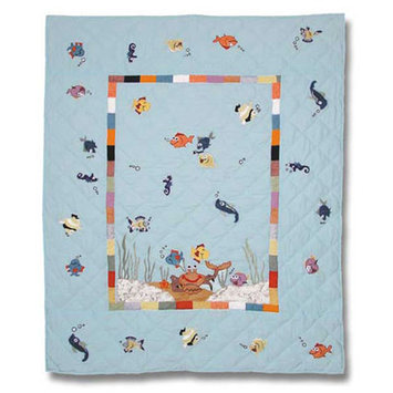 Patch Magic Kids Aquarium Crib Quilt