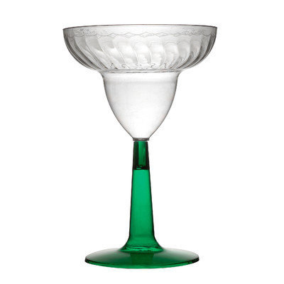 Fineline Settings, Inc Flairware Stem Rippled Disposable Plastic 12 oz. Margarita Glass (96/Case)