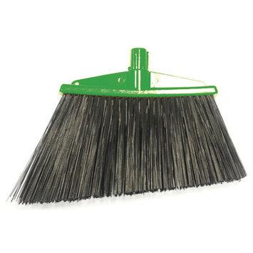 Syr Angle Broom with Bristles Color: Green