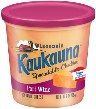 Kaukauna Port Wine Spreadable Cheese 12.6 Oz Tub