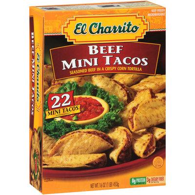 El Charrito™ Beef Mini Tacos 22 ct Box
