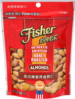 Fisher® Honey Roasted Almonds 140g Bag