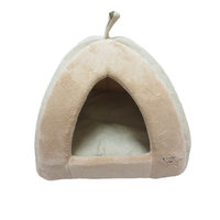 Best Pet Supplies TT606 Coral Fleece Tent - Tan - Medium