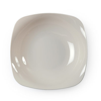 Fineline Settings, Inc Renaissance Rounded Square China-Like Bowls (Pack of 120), Bone