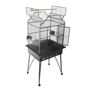 A E Cage Company Large Victorian Dome Top Bird Cage Color: Black