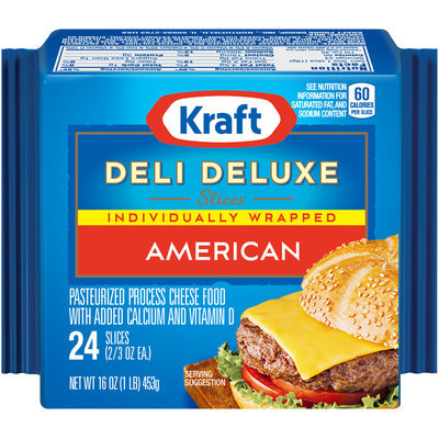 Kraft Deli Deluxe American Cheese Slices 24 Ct Pack