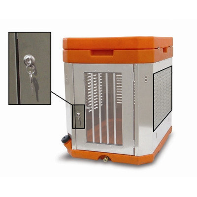 High Country Plastics K9 Portable Dog Kennel Color: Orange
