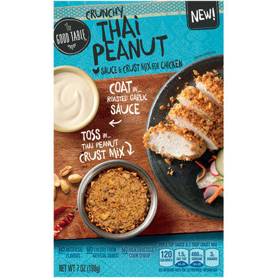 The Good Table™ Crunchy Thai Peanut Sauce & Crust Mix for Chicken 7 oz. Box