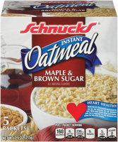 Schnucks® Instant Oatmeal Maple & Brown Sugar