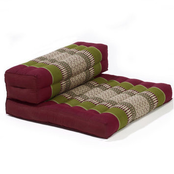 My Zen Home Dhyana Meditation Cushion Color: Army / Red